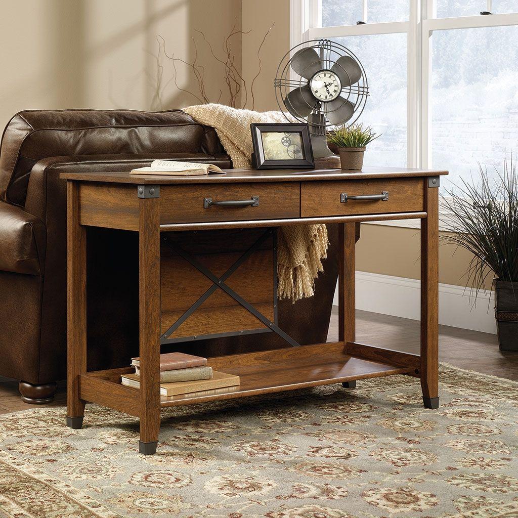 Carson Forge Sofa Table Washington Cherry Wood Sofa Table Sofa Table Decor