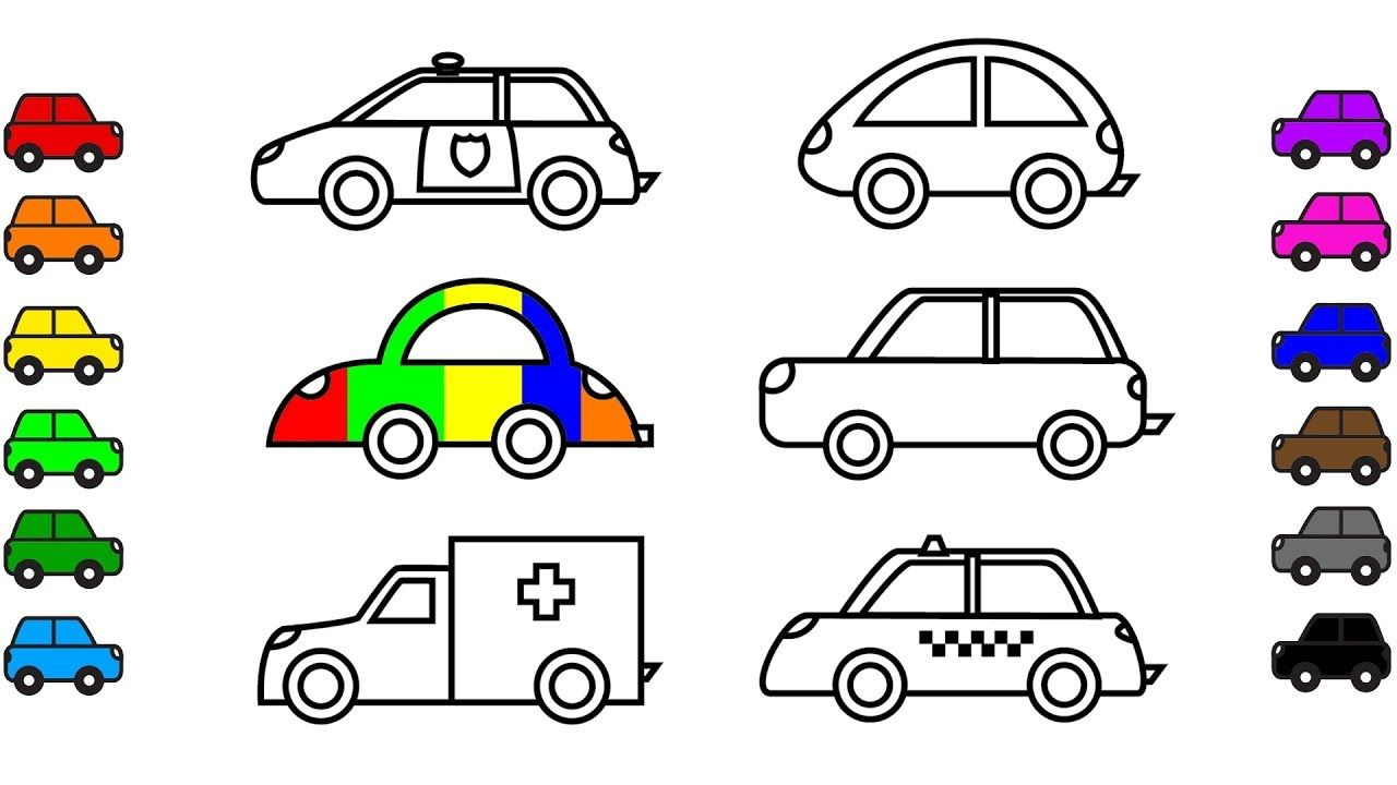 Pin By Rainbow Cars 4 Kids Kids On Car And Truck Coloring Pages
