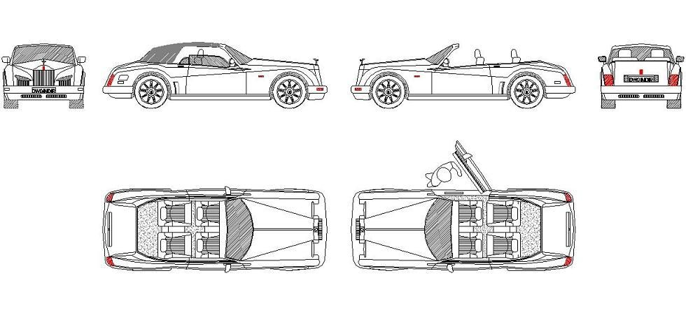 Dwg Adı  Rolls royce antibes dwg İndirme Linki     www - copy car blueprint website