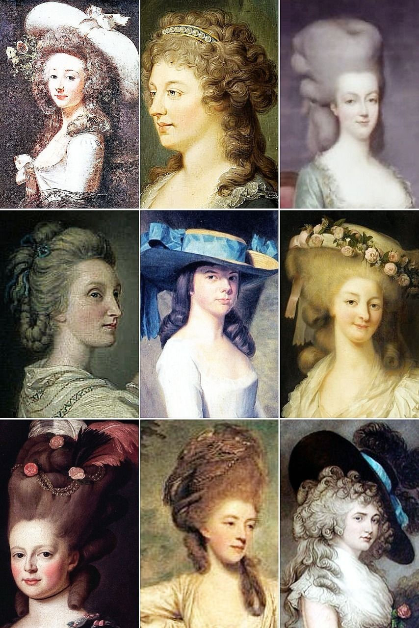 18th Century Woman's Hairstyles A collection of 18th