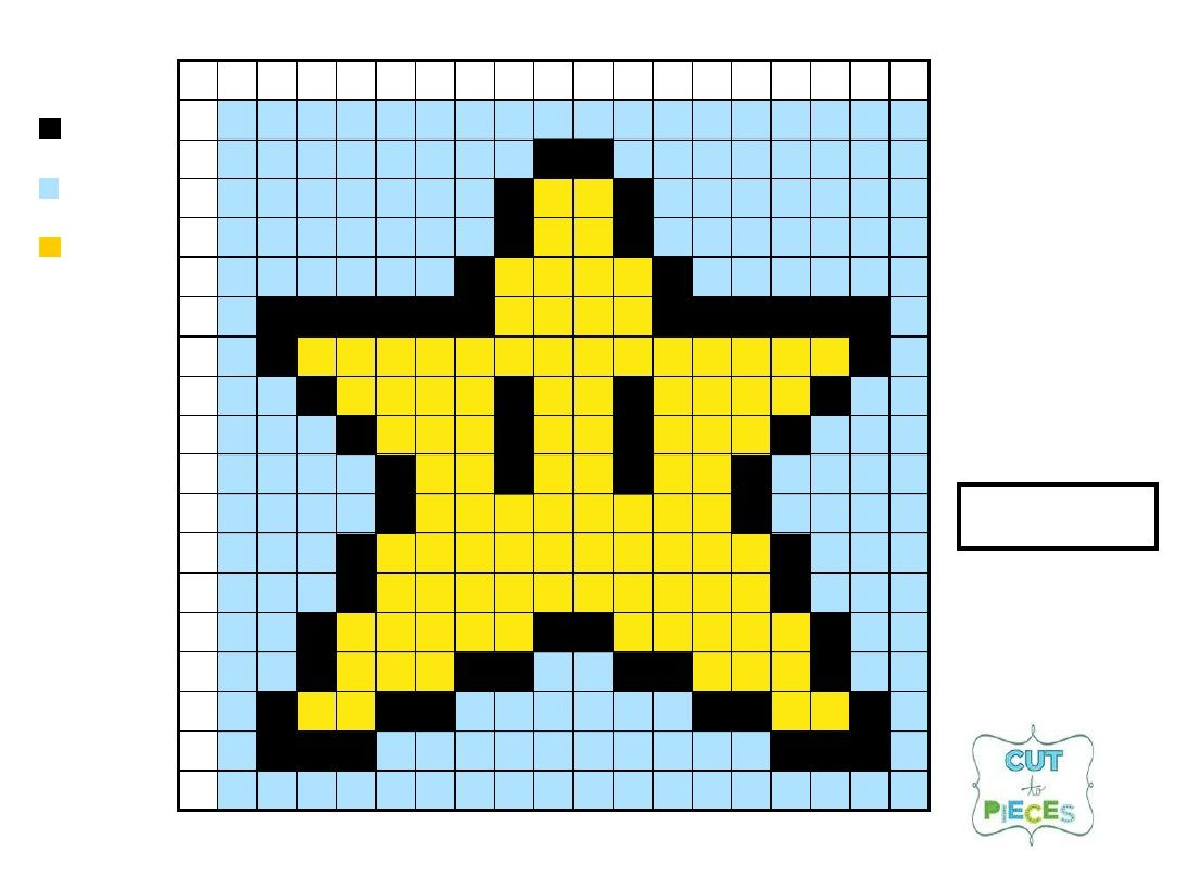 Star Grid | tutorials | Mario brothers, Mario star, Mario crochet
