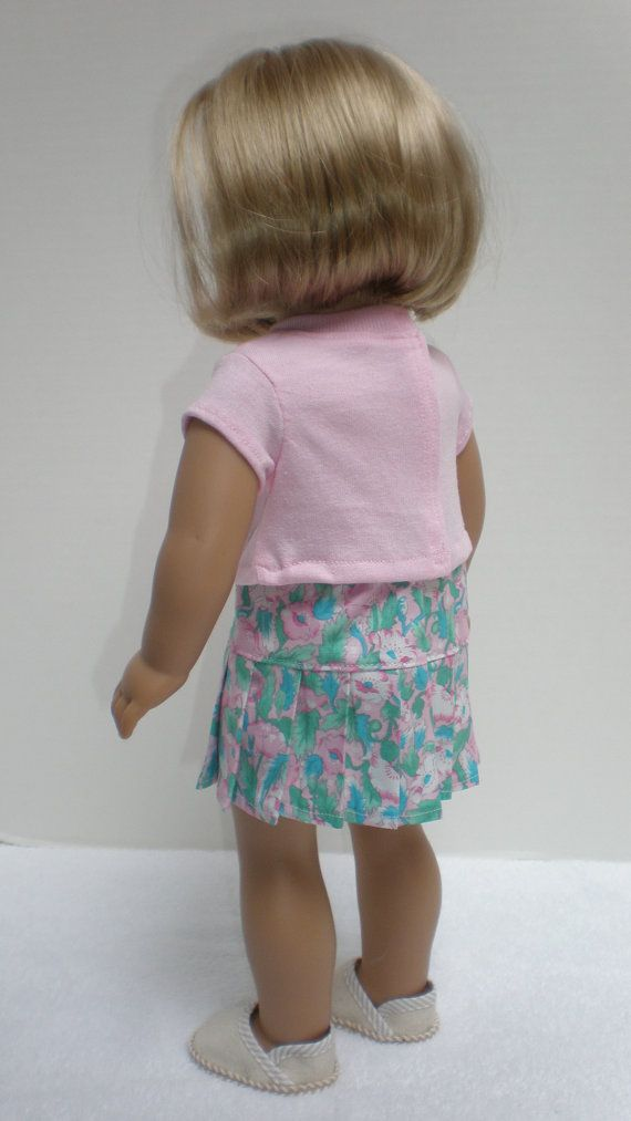 SWEATER SHIRT & SKIRT Set fits American Girl 18 by dollupmydoll