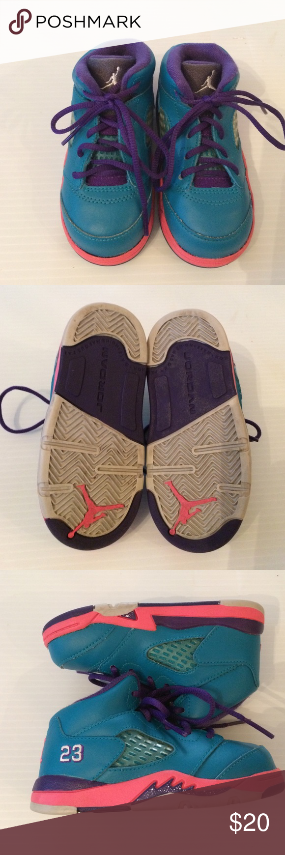 Jordan girls Toddler size 6 Preowned girls size 6C good conditions Jordan Jordan Shoes Sneakers