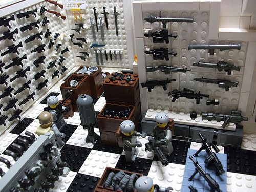 x1 NEW Brickarms TACTICAL PDW Gun For Army Guys WORKS with LEGO MINIFIGS