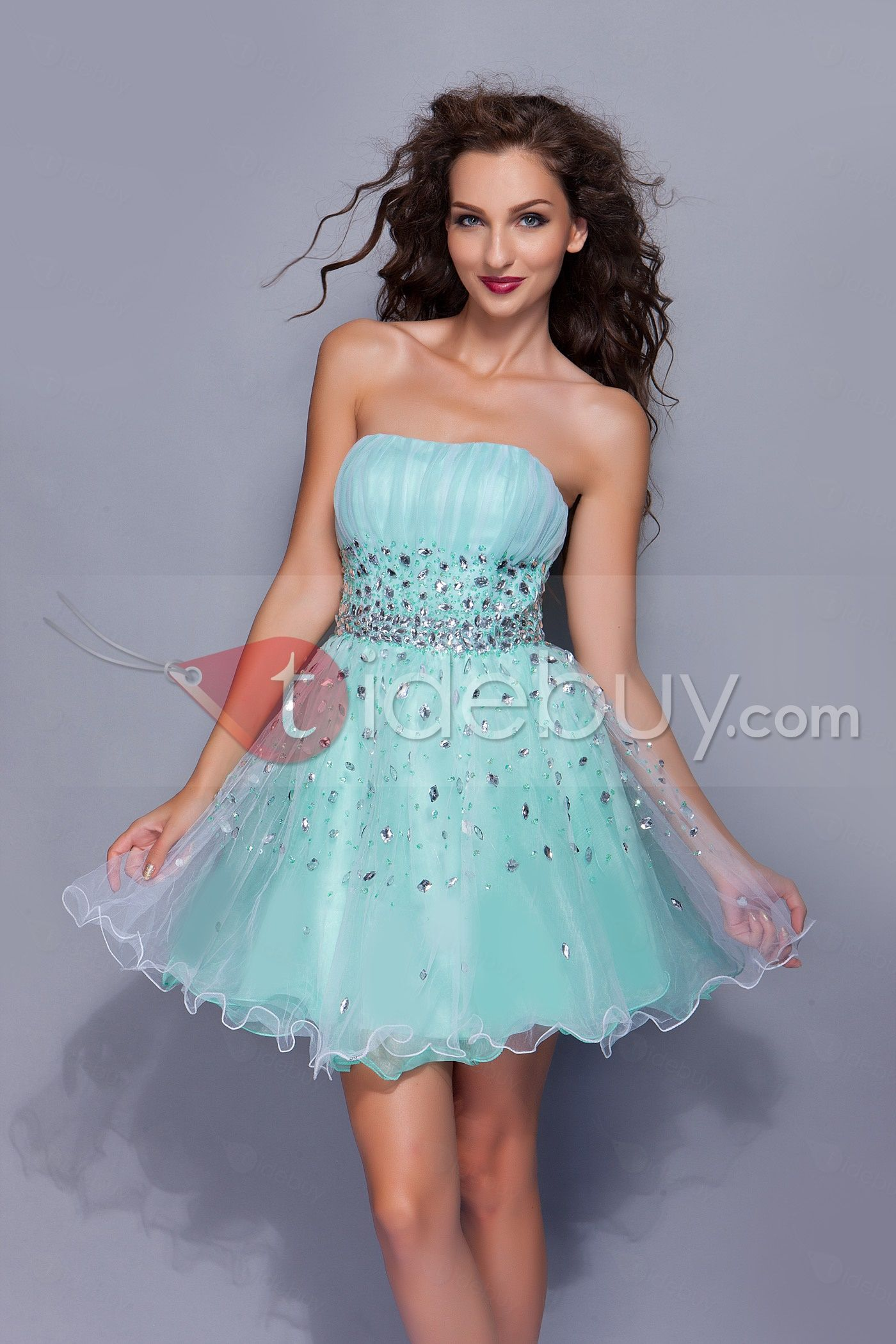 Fabulous A-Line Strapless Mini/Short-Length Beadings Miriama\'s Prom ...
