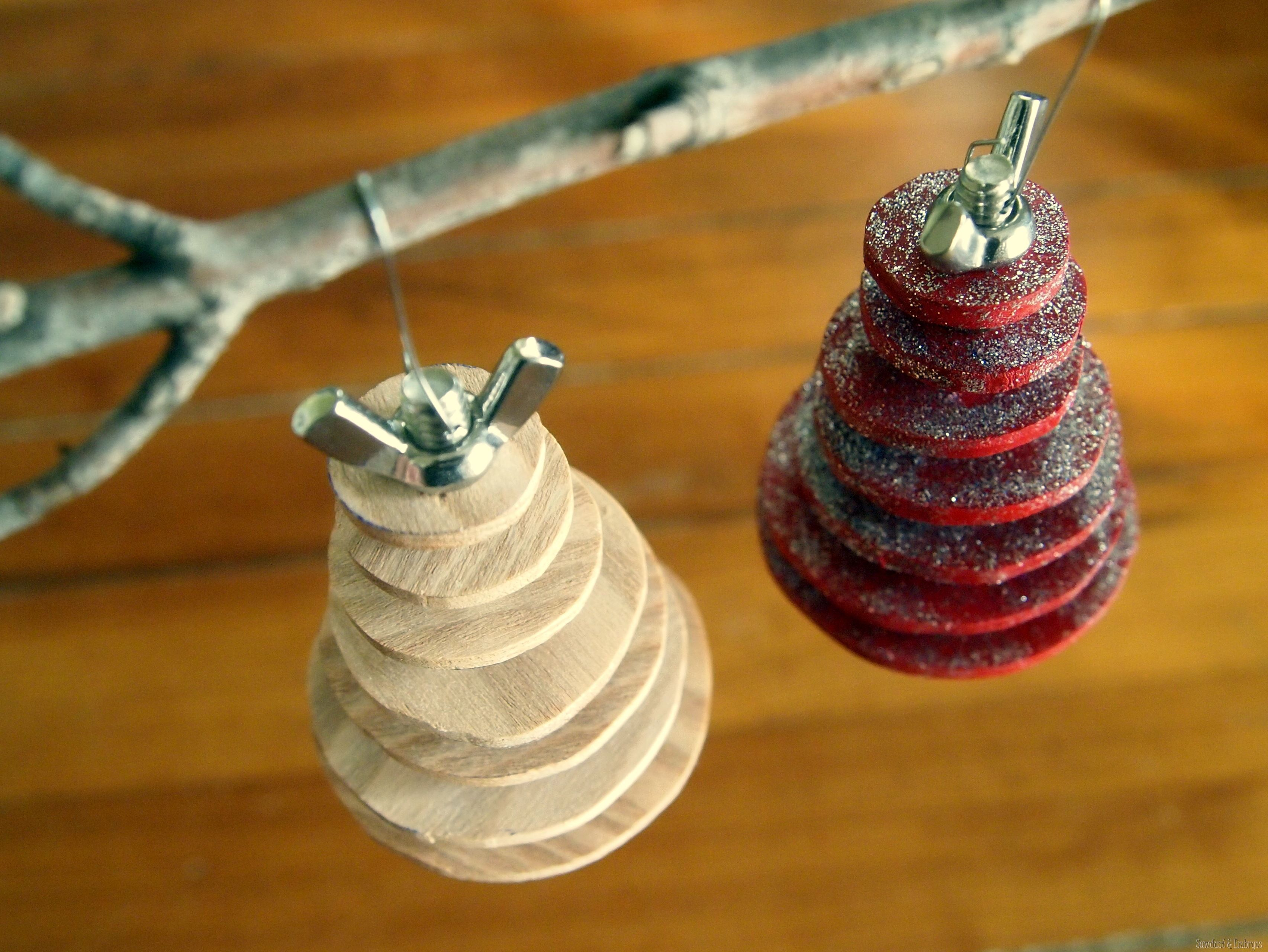 Christmas decorations to make yourself - Diy Industrial Christmas Tree Ornament