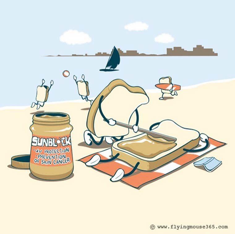 Une sélection des adorables illustrations deChow Hon Lam, aka Flying Mouse 365, un illustrateur malaisien qui s'amuse à mettre en scène la nourriture et le