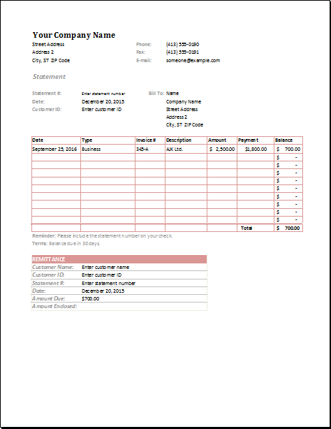 11 Invoice Templates For All Businesses Invoice Template Word Invoice Template Statement Template