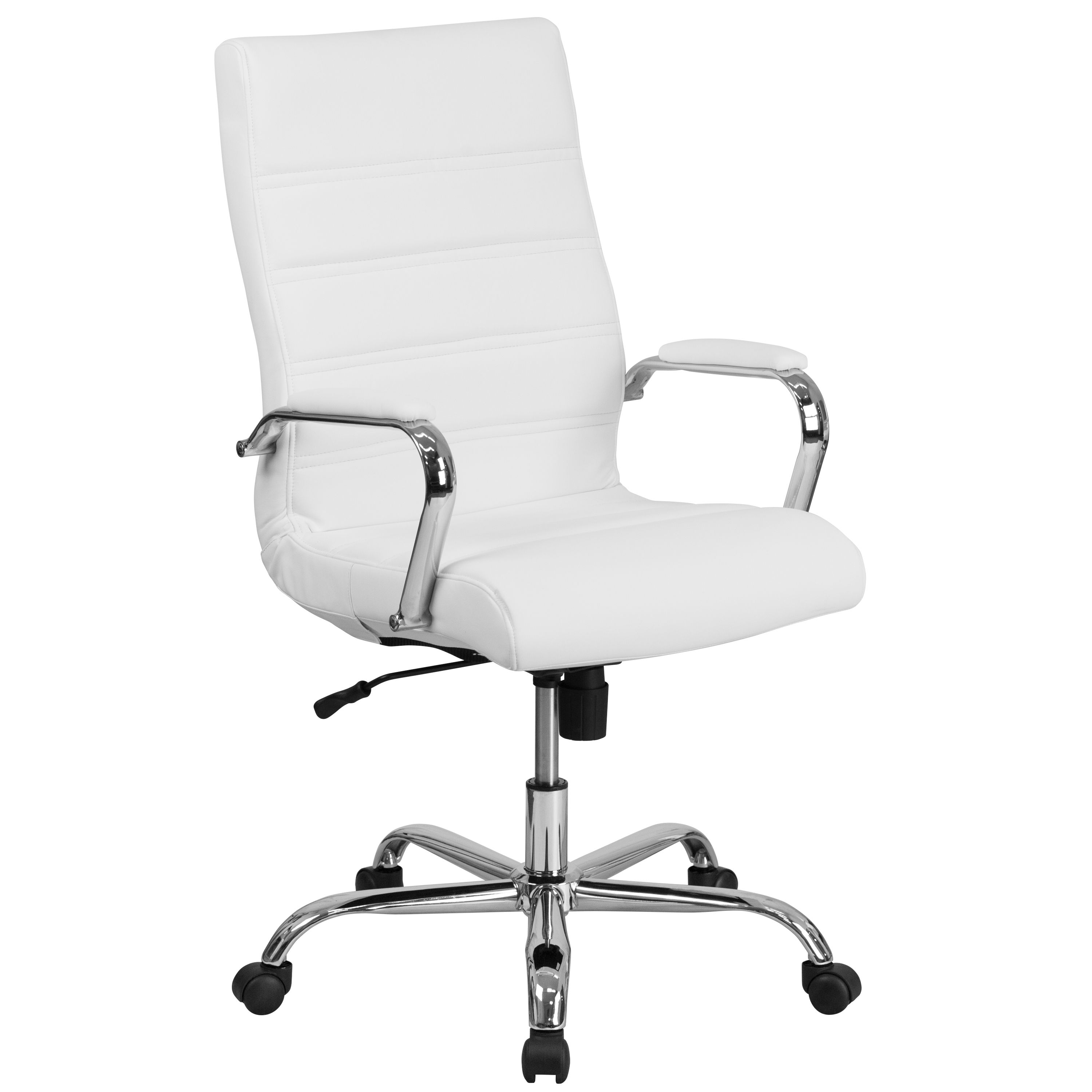 Free 2 Day Shipping Buy Flash Furniture High Back White Leather Executive Swivel Office Chair With Chr Swivel Office Chair Office Chair Ergonomic Office Chair