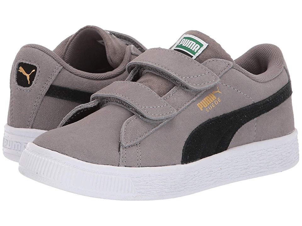 18cc7af0 Puma Kids Suede Classic V (Little Kid) Boys Shoes Charcoal Gray/Puma ...