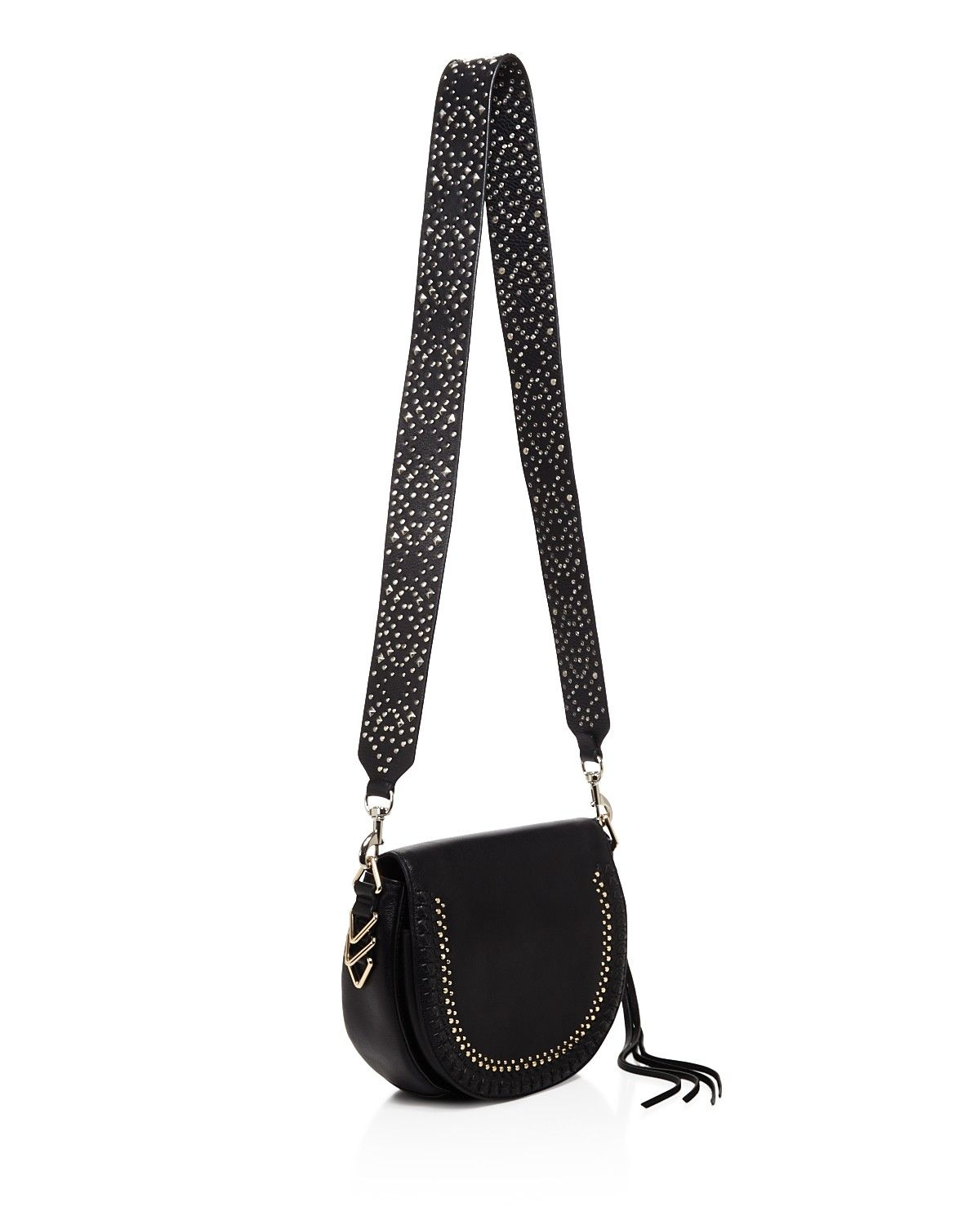 Plucked Straight From Rebecca Minkoff S Latest Runway Show This Studded Handbag Strap Is A Rockstar Extra Just Clip It On To Any Carryall For An Instant