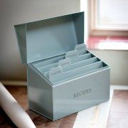Kitchen receipe box from Willow and Stone