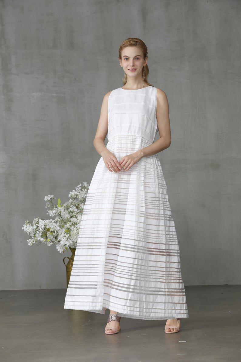 Summer Dress Linen Dress Minimal Dress Maxi Dress Linen Gown Wedding Dress Yellow Dress Sleeveless Dress Midi Dress Linennaive In 2020 Linen Dresses Dresses Linen Gown