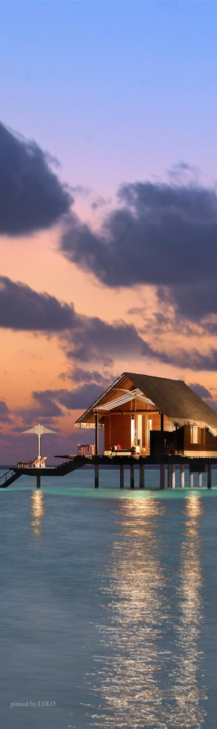 One & Only Reethi Rah Maldives. There is a place in a far blue ocean of wonderful beauty. Generous exterior spaces range from beach verandas to private swimming pools and large over-water decks. #maldives #travel