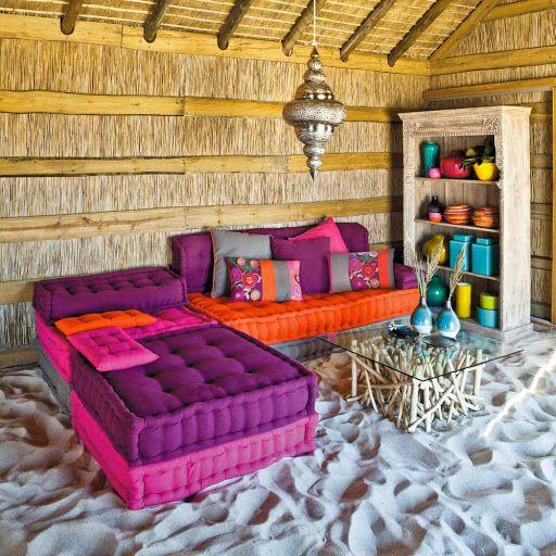 Banquette Canapé Places CANCUN Decodesign Décoration LookBook - Canapé 3 places pour deco design