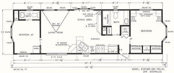 Park Model 1 And 1 2 Bath Google Search Floor Plans Park Models Reno