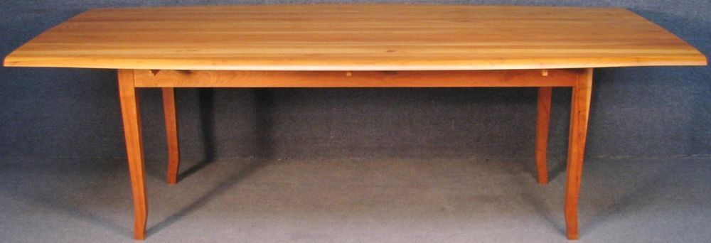 Solid Cherry Wood Long Narrow Drop Leaf Kitchen Dining Boardroom Table Table Dining Table With Storage Retro Dining Table