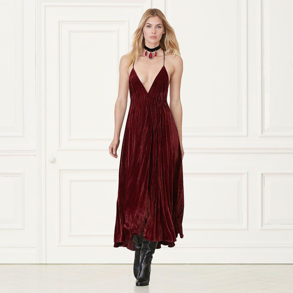 Leona pleated velvet gown design ideas pinterest velvet gown