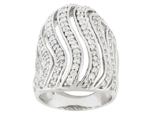 Bella Luce (R) 2.46ctw Round Rhodium Plated Sterling Silver Ring (1.60