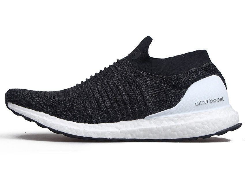 186c2518d Adidas Running Ultra Boost Laceless Black White Men New Shoes Primeknit  BB6140  adidas  RunningCrossTraining