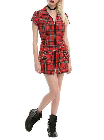 Red Plaid Strap Dress | Hot Topic