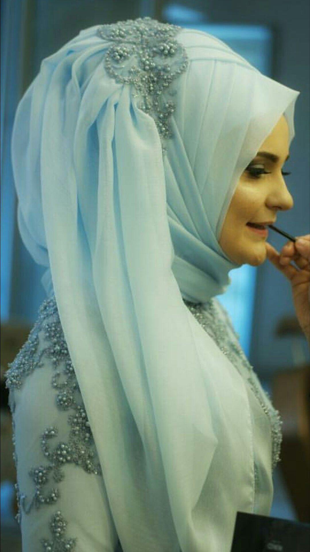 Pin by Rumeysa on Türban modelleri | Pinterest | Wedding hijab ...