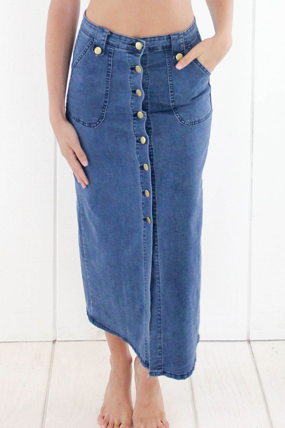 The kera denim maxi skirt clothes and shopping