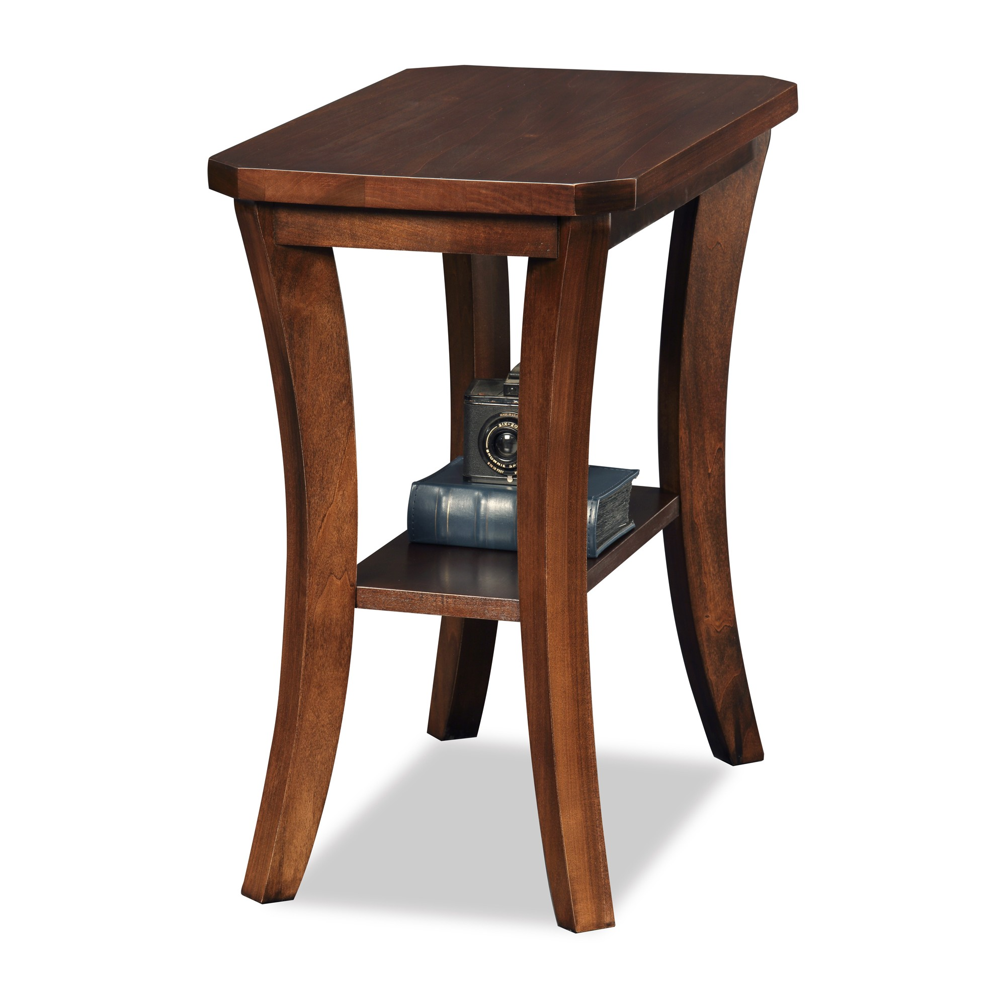 Boa Narrow Chairside Table - Chocolate (Brown) Cherry - Leick ...
