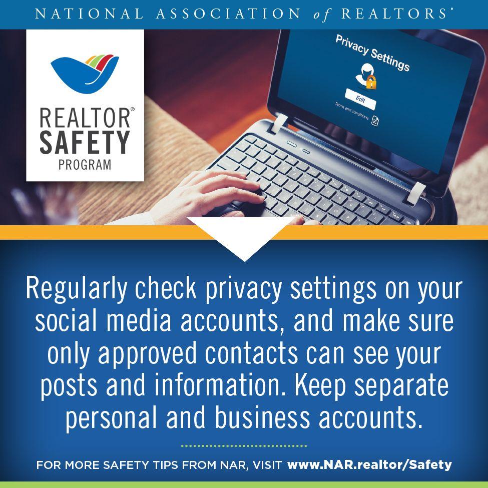 This week's RealtorSafety tip https//www.nar.realtor