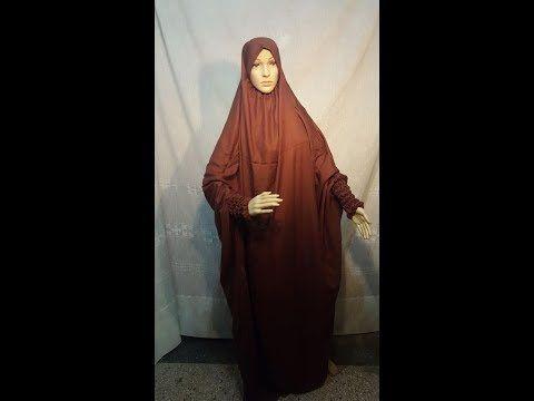 الحلقة 34 تفصيل وخياطة العبايات او الحجاب الشرعي Youtube Nun Dress Fashion Dresses