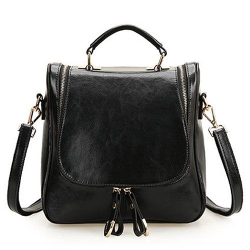 8780dfffea EcoCity Ladies Small Leather Shoulder Messenger Bags Handbag Purse-Backpack   57.99