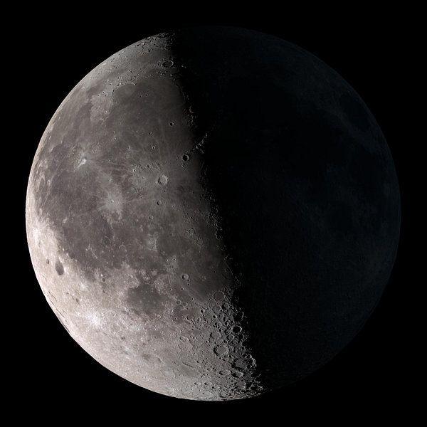 Kunstwerk Half Donkere Maan Van Natasja Tollenaar Moon Phases