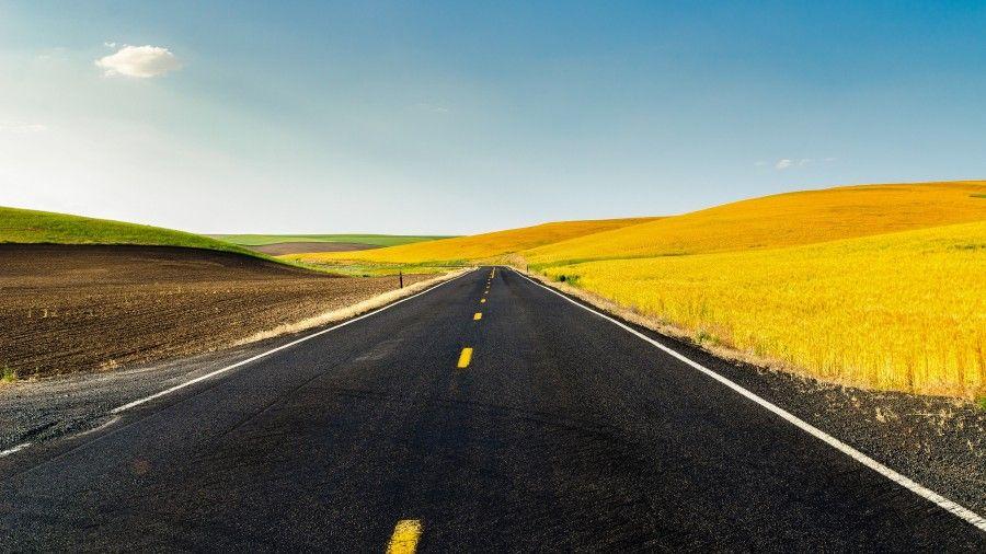 Road Through Farmland 4k Ultra Hd Desktop Wallpaper Wallpaper Hd