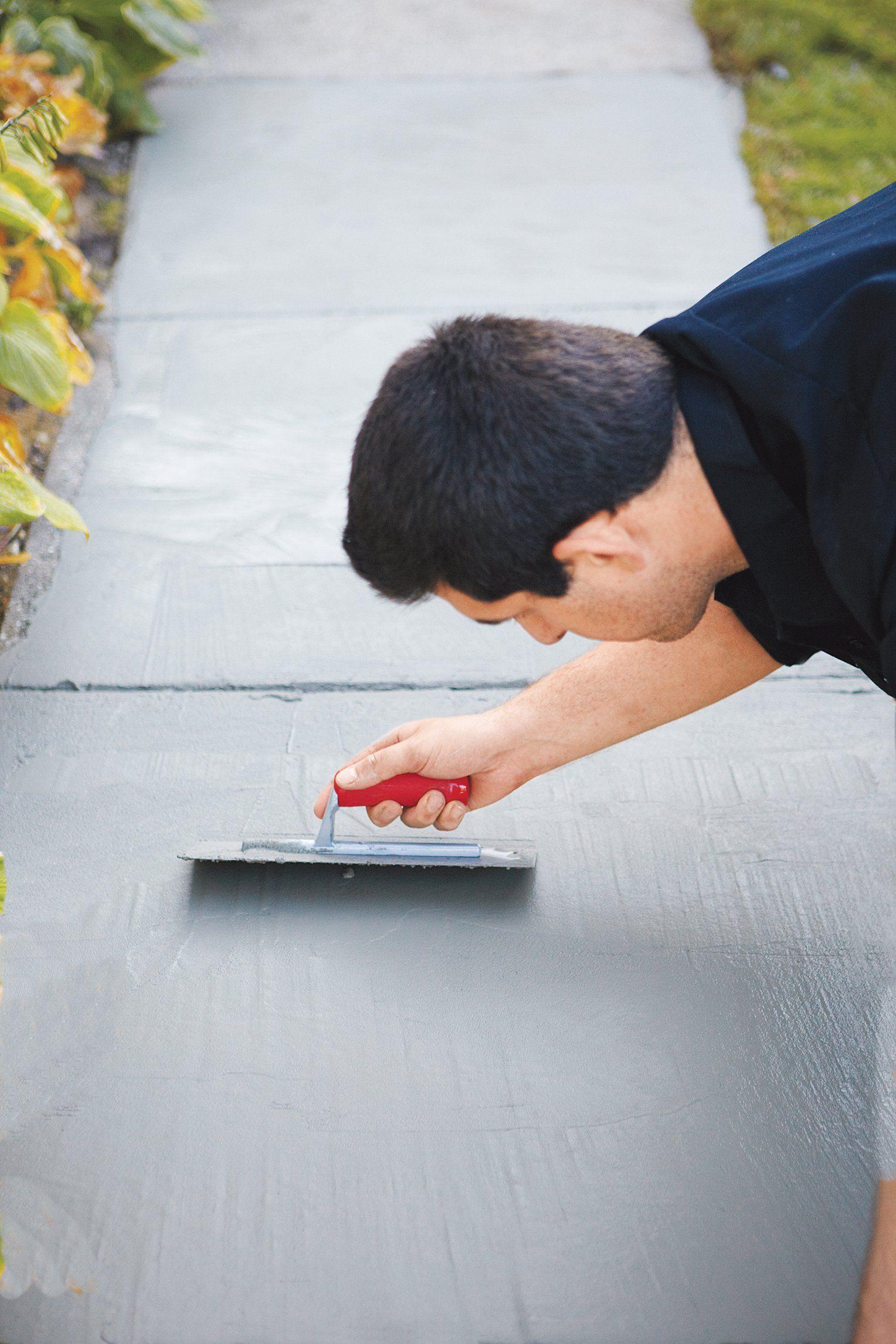 How to resurface worn concrete concrete refinishing