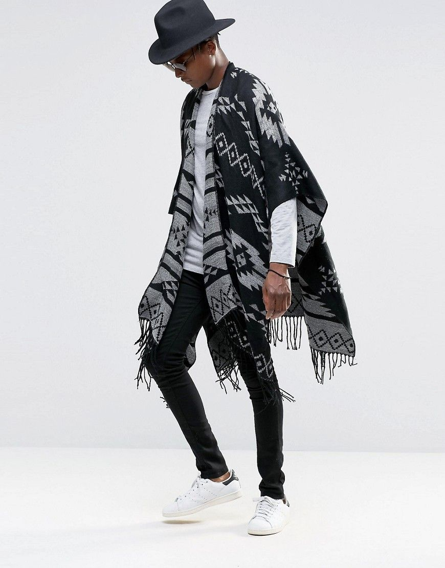 2c379229995 ASOS+Aztec+Cape+In+Monochrome   Fashion Speaks   Fashion, Coachella ...