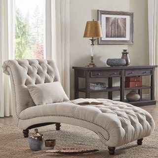 Bedroom Chair · Knightsbridge Tufted Oversized Chaise Lounge ...