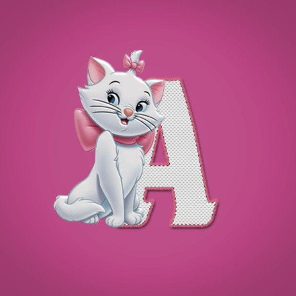 Alfabeto - Gatinha Marie 4 - Maiúsculas e Minúsculas. Entrega pelo email após comprovação de pagamento.