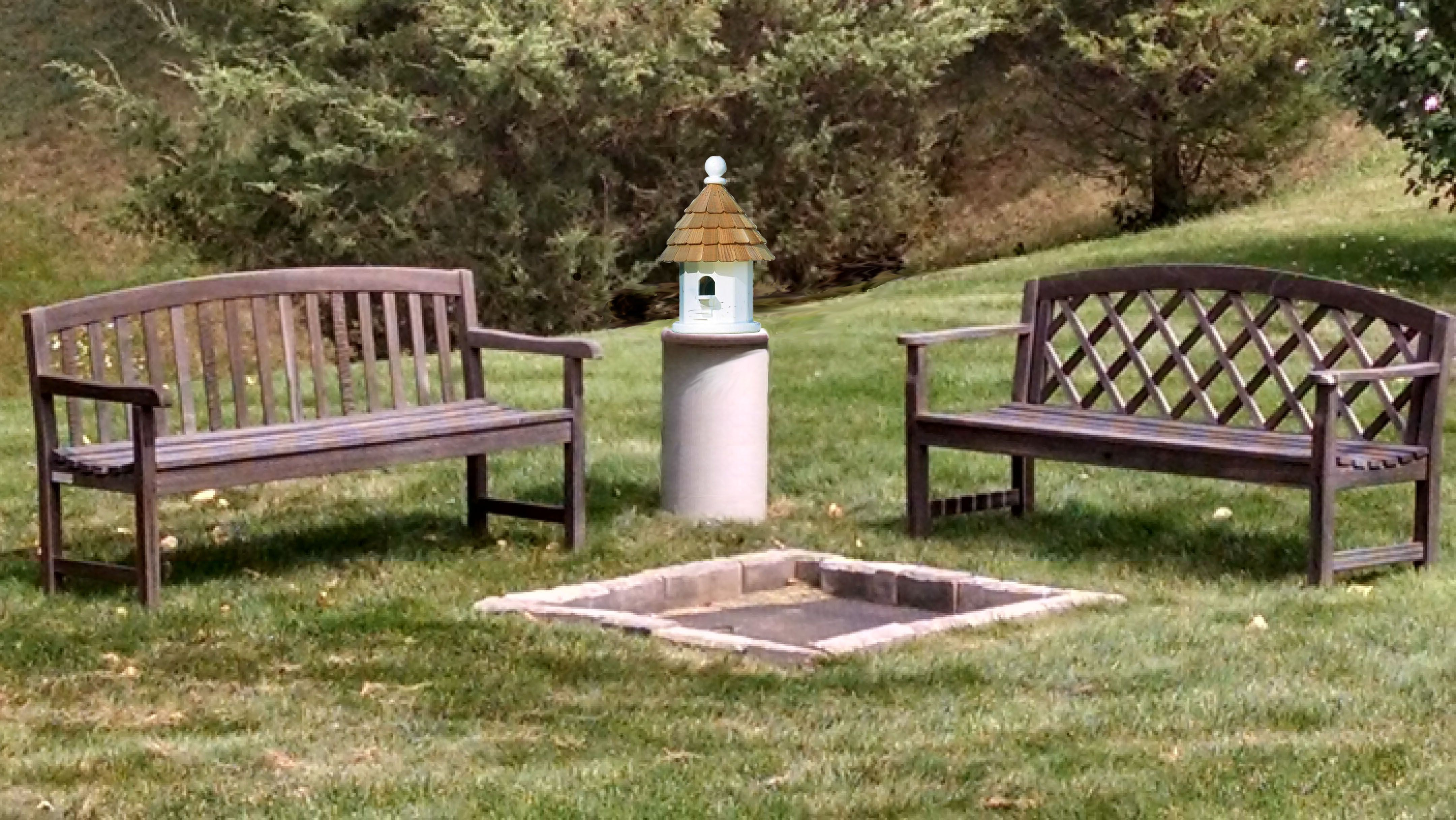 add a bird house to our well pump cover to liven up your yard