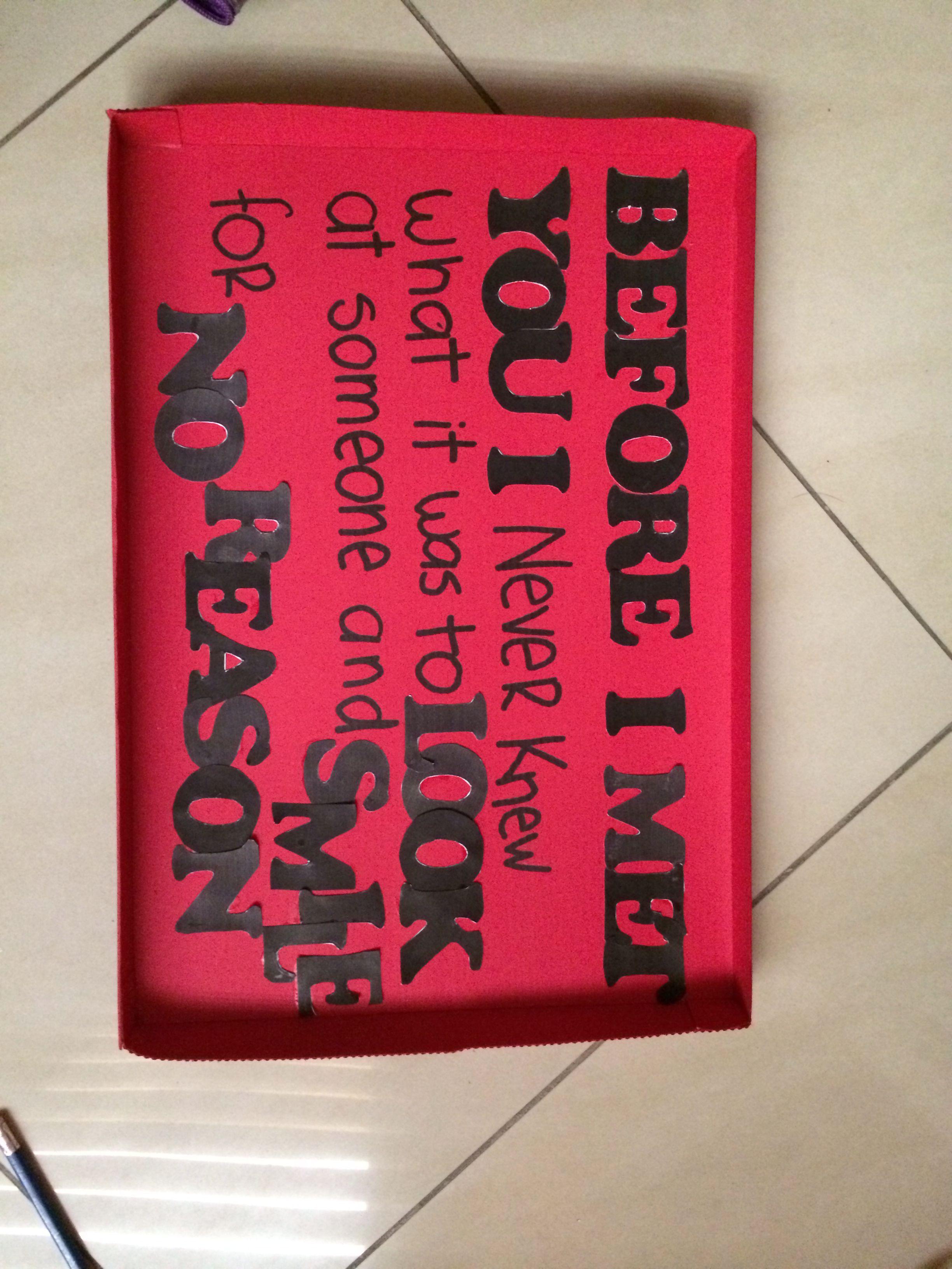 For My Boyfriend His First Valentine Present Boyfriend