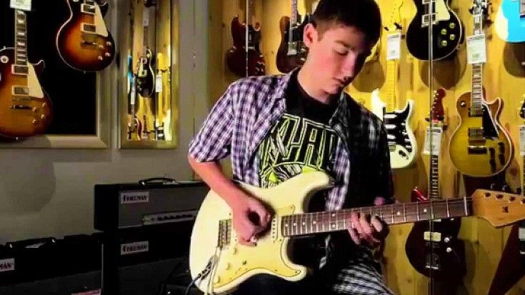 """Caught On Tape: 16-Year-Old Guitar Prodigy Jams """"Voodoo Child,"""" And It's Unbelievable"""