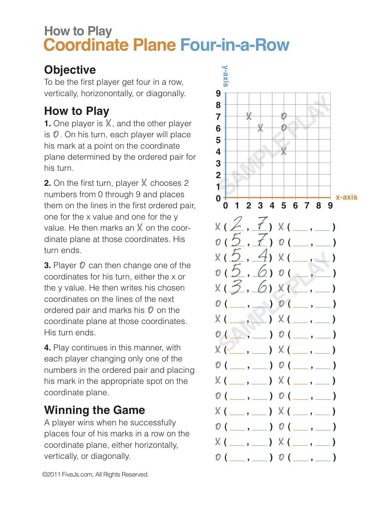 Coordinate Plane Math Game (Free download!) | Simple math, Game ...