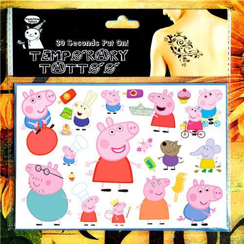 Henna Tattoo Care Vaseline: Pinky Pig Family Child Temporary Body Art Toys , Flash
