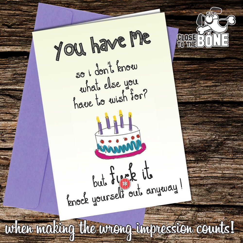 #238 Rude Birthday HIM / HER / GIRLFRIEND BOYFRIEND greetings card funny humour  | eBay