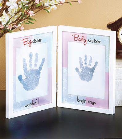 Sibling Handprint Frames | x mas ideas | Pinterest | Ink pads ...