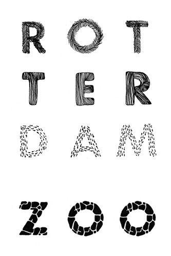 Nice and pictorial Rotterdam ZOO :: Typography Served