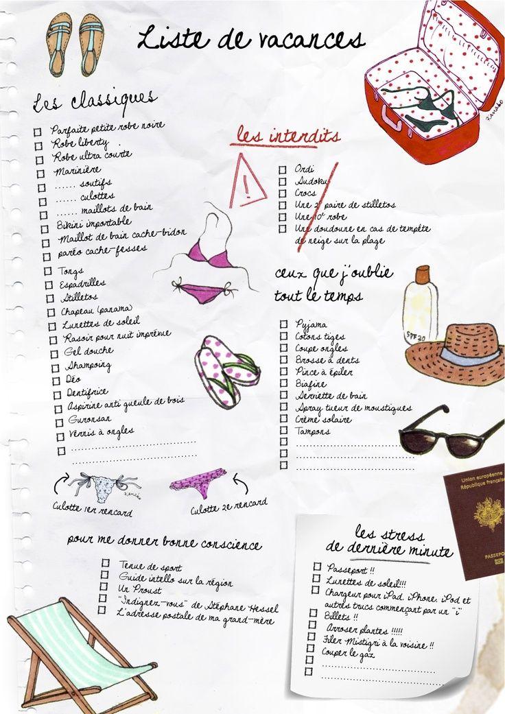 To Do List Liste De Vacances Check List Vacances Vacances