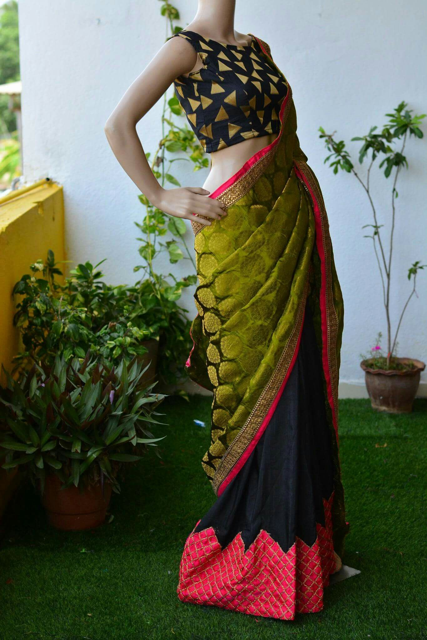 Saree for freshers party in college pin by niki chodhary on nikita  pinterest  saree blouse and saree