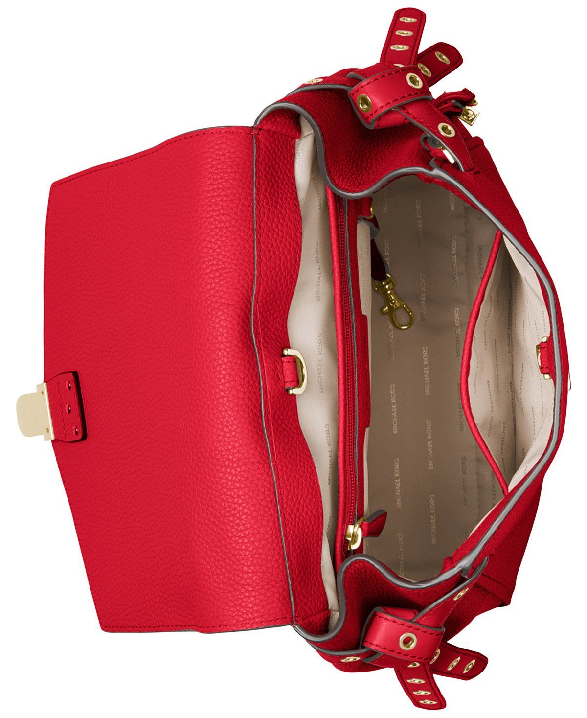 5aa18386beb7 MICHAEL Michael Kors Bristol Medium Studded Backpack Bright Red -- Read  more reviews of the product by visiting the link on the image.