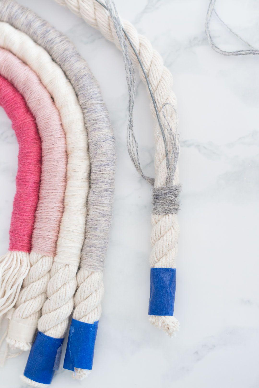 Rope Rainbow Wall Decor // Fibre Art DIY