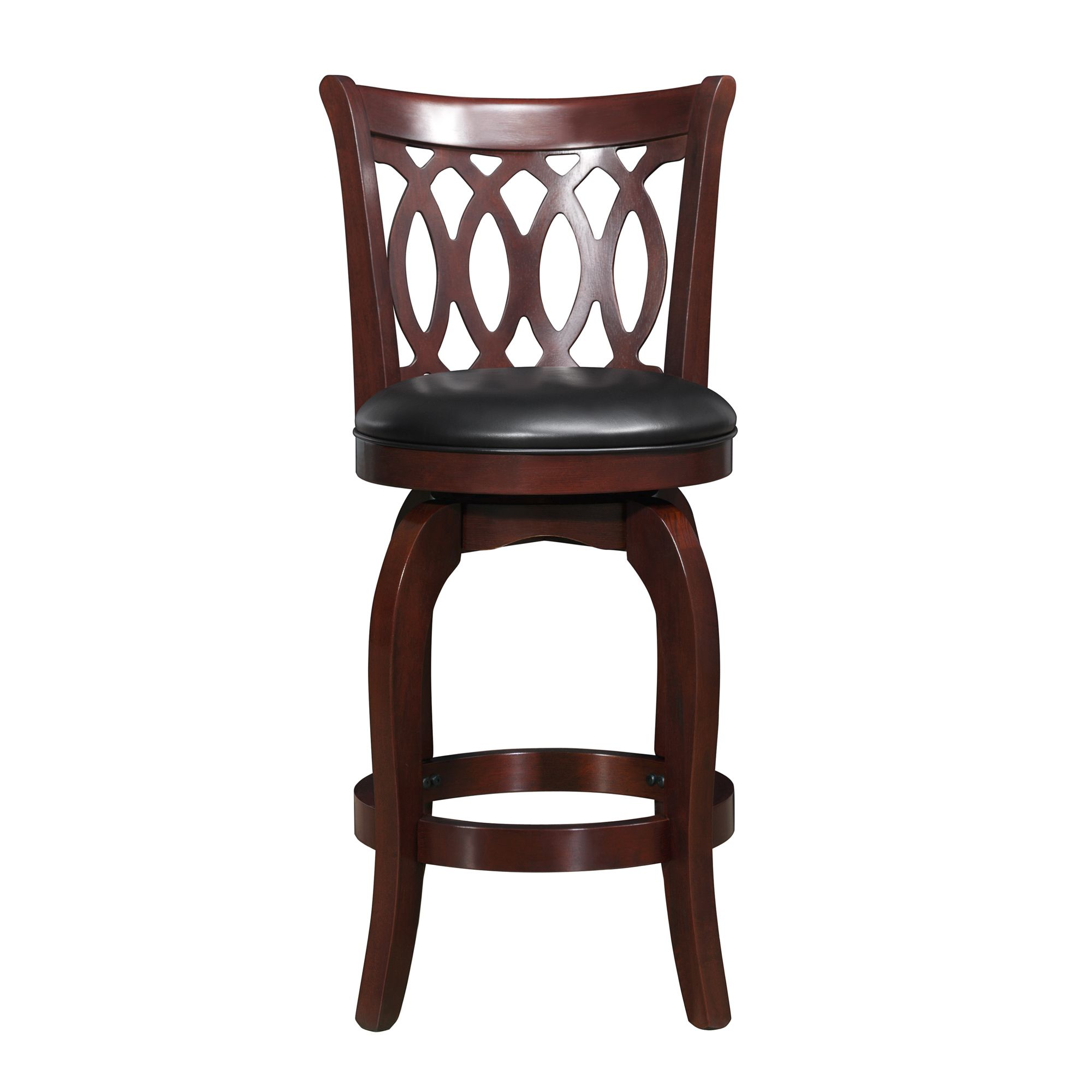 Verona Cherry Swivel 24-inch High Back Counter Height Stool by iNSPIRE Q  Classic by iNSPIRE Q